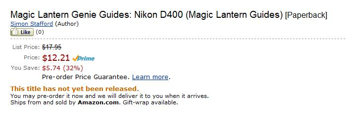 Nikon D400 book available for pre-order at Amazon com – Camera News
