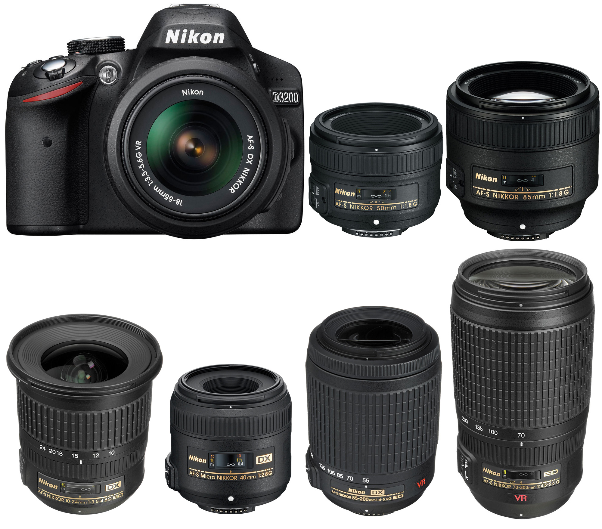 Nikon D3200 is an entry-level APS-C DX DSLR camera released in 2012