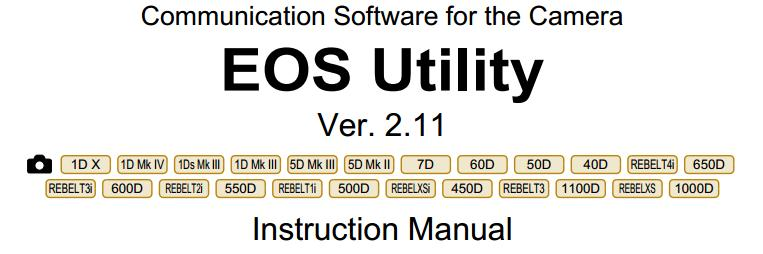 EOS Utility 2 11 available for download online – Camera News