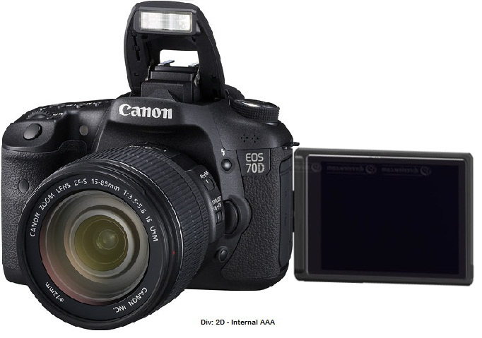 Notice: 70D image hasn't leaked yet, this is Photoshopped 70D.