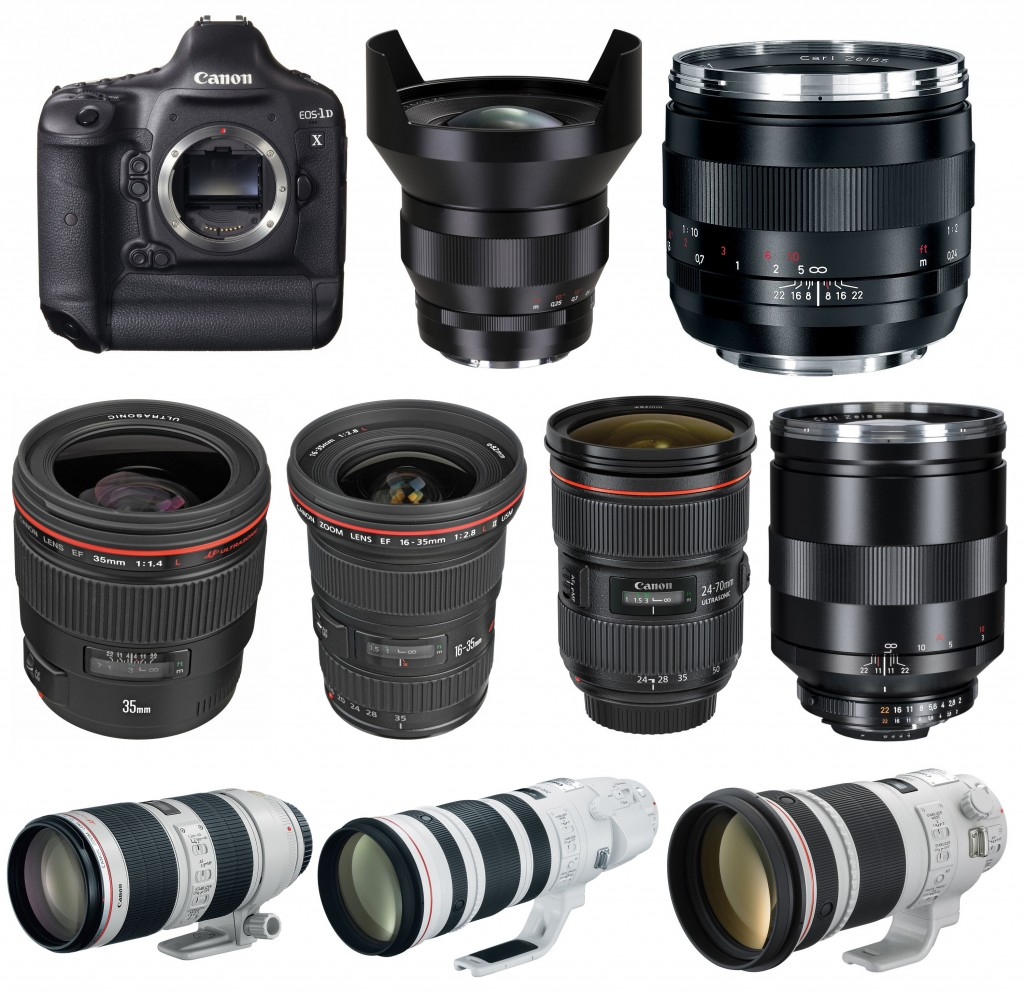 Recommended lenses for Canon EOS-1D X