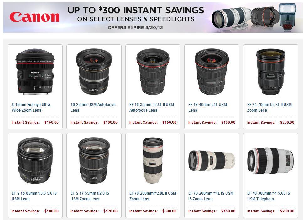 canon lenses reb