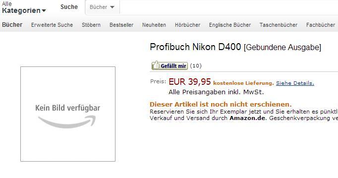 nikon d400 book