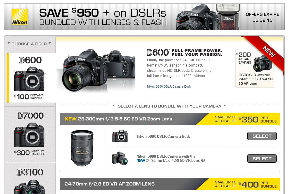 The Nikon instant rebates February now available, you can save up to $