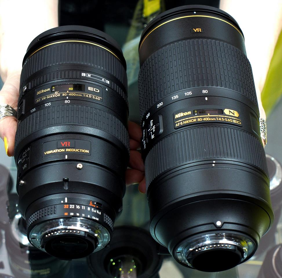 Comparison with old AF 80-400mm lens