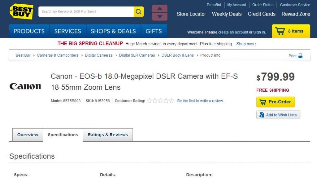 Canon EOS-B