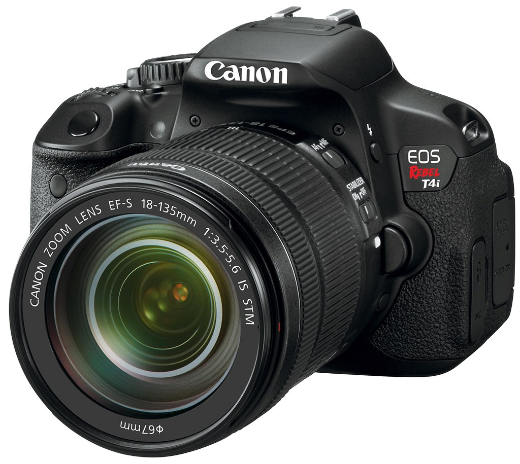 Canon EOS Rebel T4i with 18 135mm