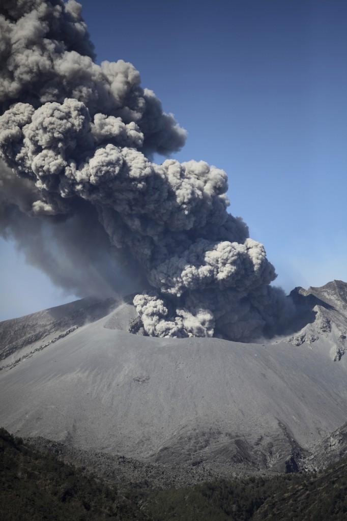 Shot wide open to show sharpness. Ash billowing from Sakurajima Volcano, Japan. f2, 1/8000 sec.