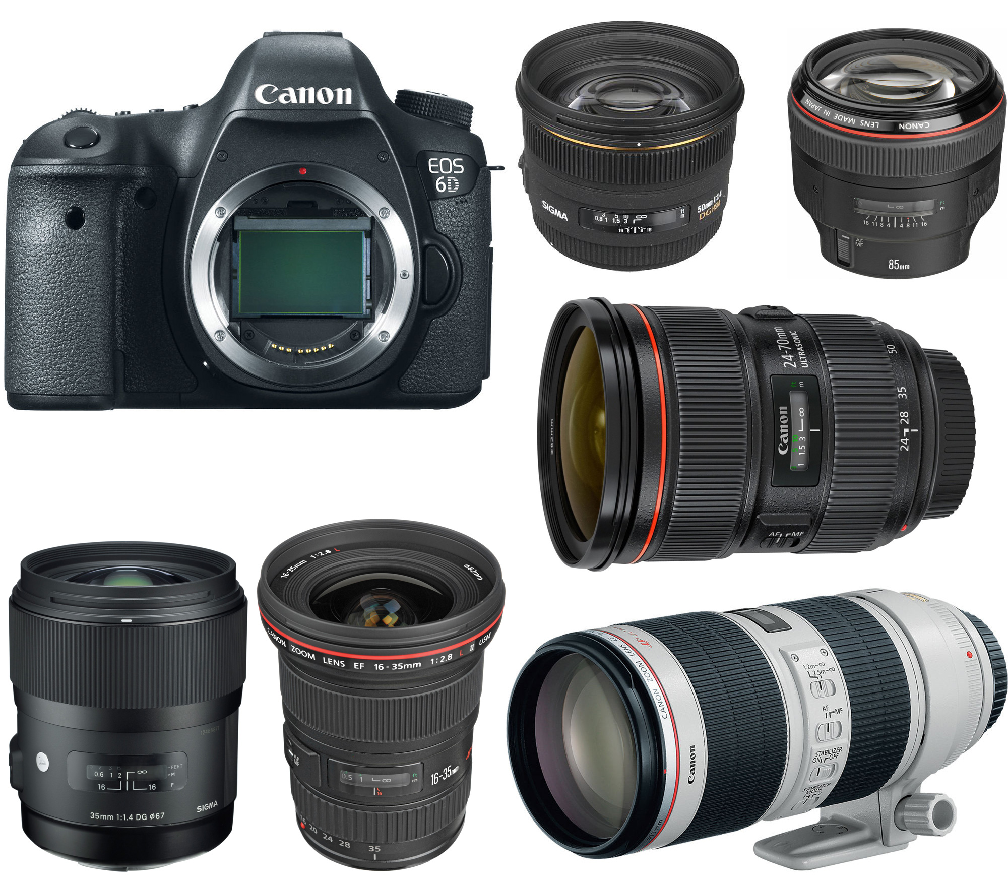 canon eos 6d recommended lenses