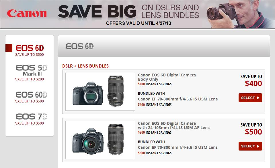 canon dslr bundle deals