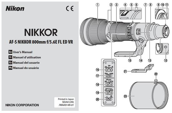 nikkor 800mm user manual