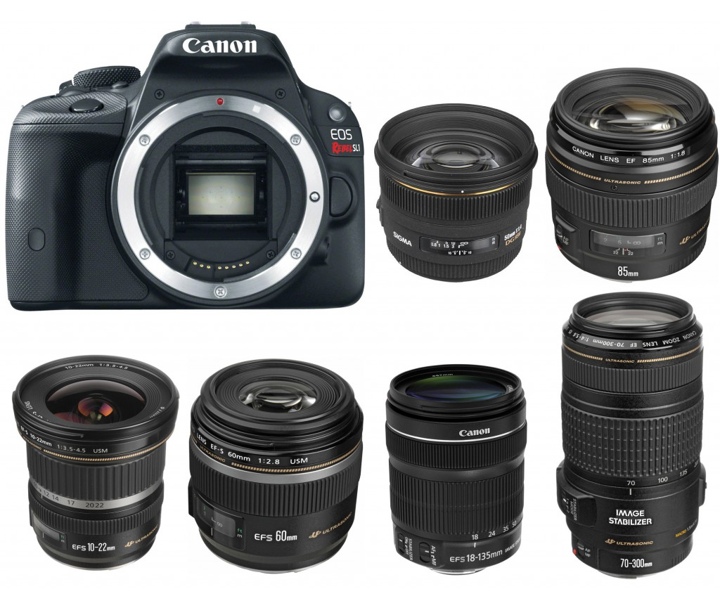 Canon EOS 100D Rebel SL1 Recommended lenses