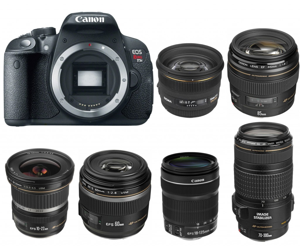 Canon EOS 700D Rebel T5i Recommended lenses