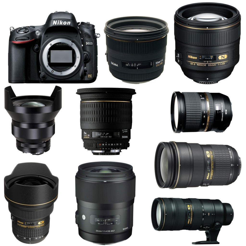 Nikon D600 Recommended lenses
