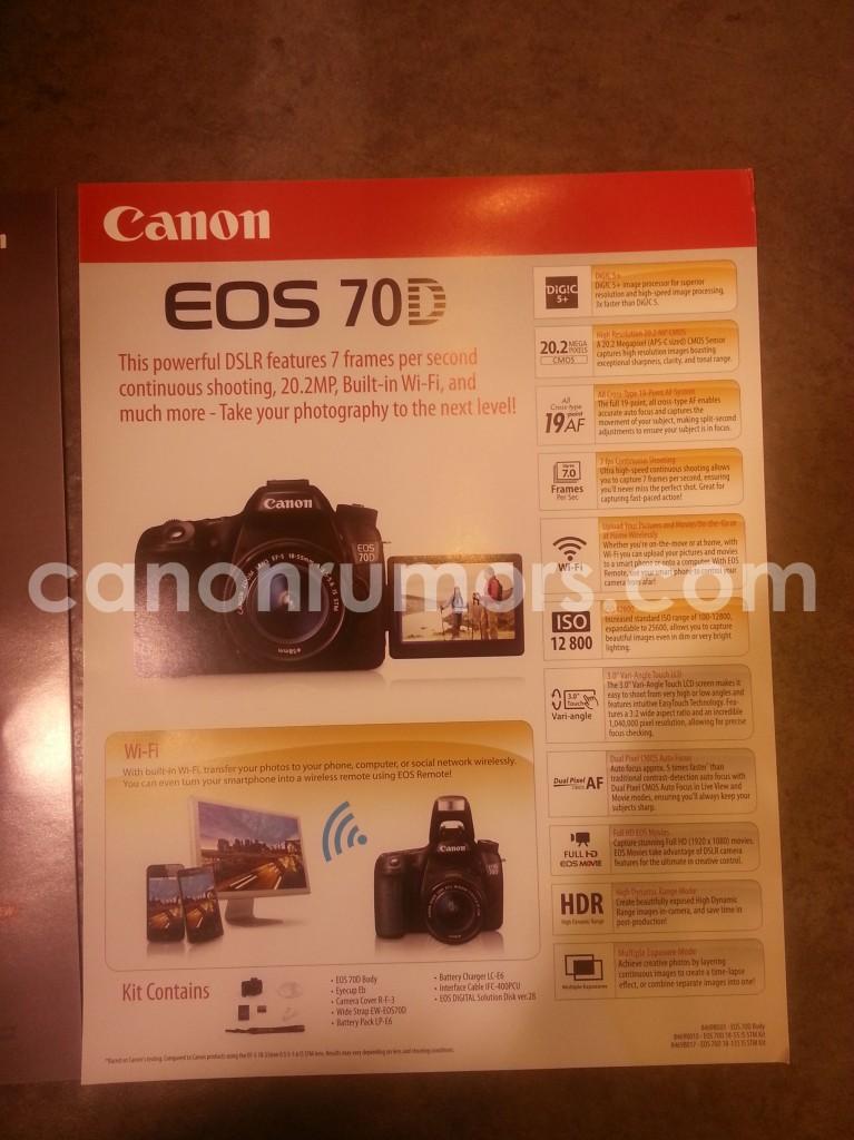 canon 70D spec