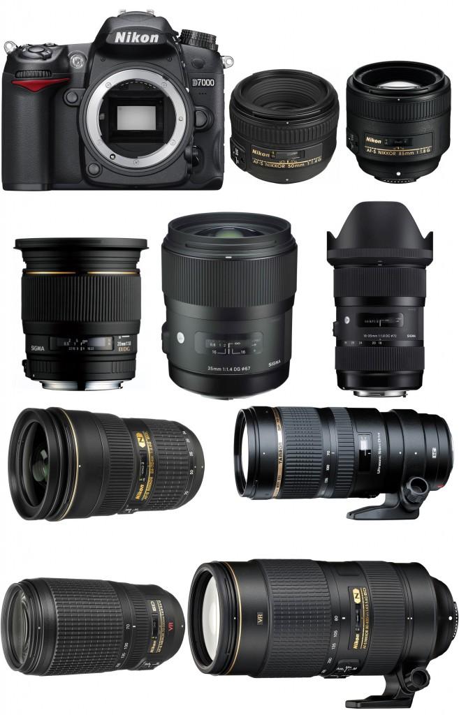 Nikon D7000 D300S Recommended lenses