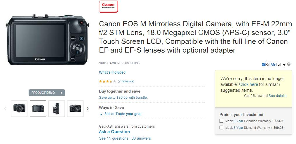 eos m discontinued