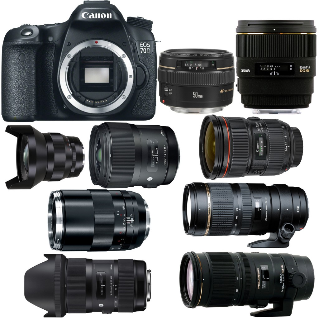 Recommended Lenses for Canon EOS 70D