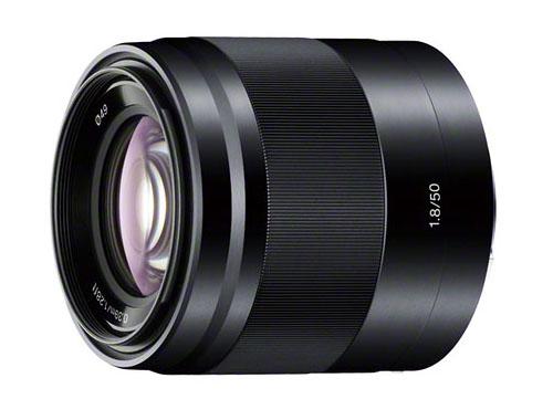 Black Sony 50mm f/1.8 OSS lens
