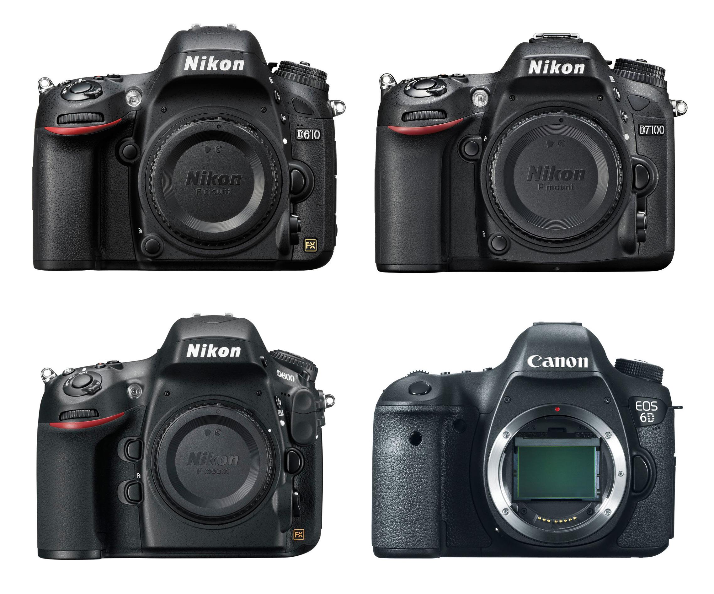 Nikon D610 Vs. D7100 Vs. D800 Vs. Canon 6D Specs Comparison | Camera ...