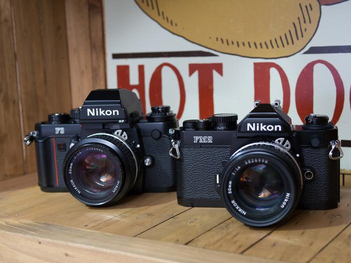 Nikon F3 and FM2