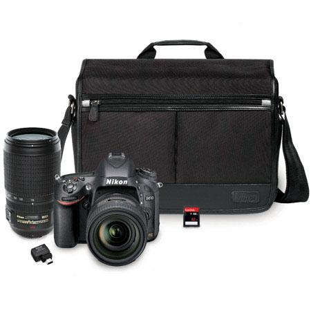 Nikon D610 with 2 kit lenses