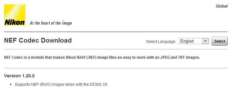 Nikon Codec