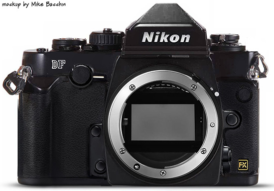 Nikon Df camera mockup by Mike Bacchin