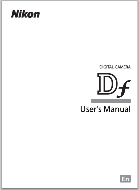 Nikon Df User's Manual