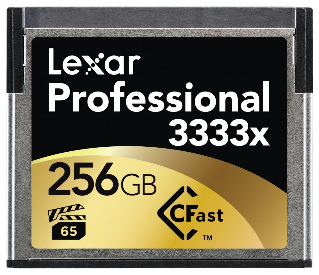 Lexar 3333x cfast 2.0 256 gb memory card