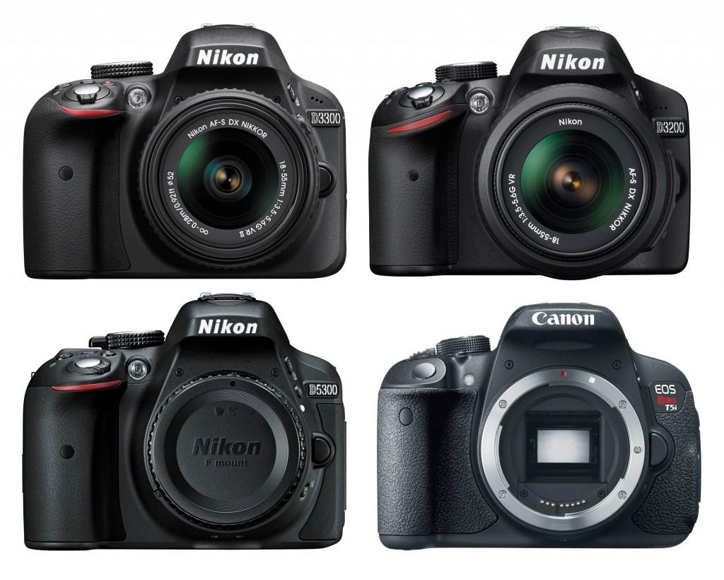 Nikon D3300 Vs. D3200 Vs. D5300 Vs. Canon 700D/T5i Specs Comparison