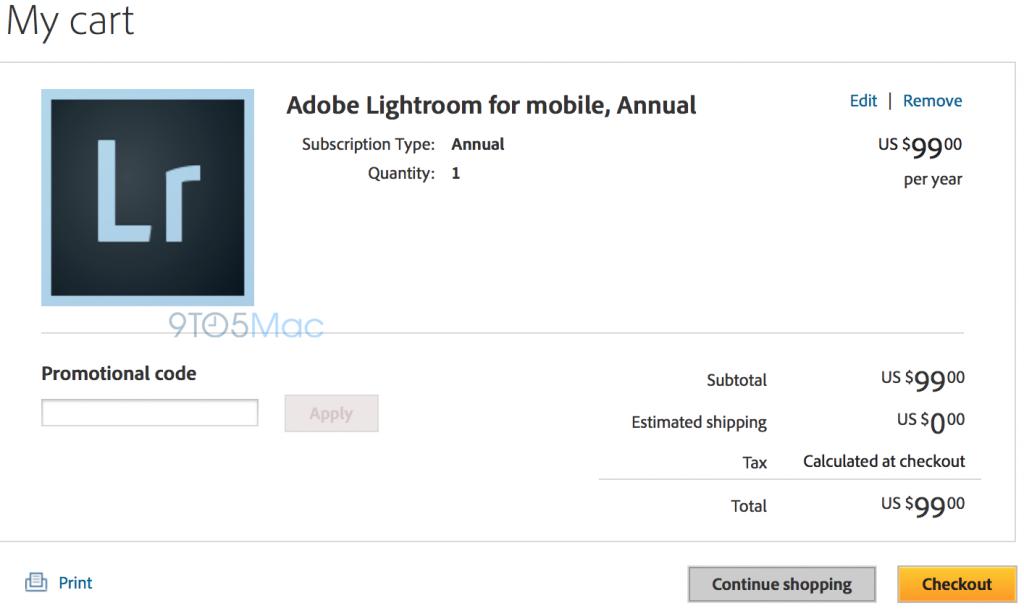 lightroom for mobile