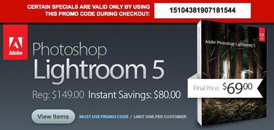 Lightroom discount coupon