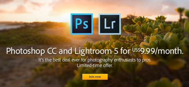 Adobe photoshop lightroom 9.99