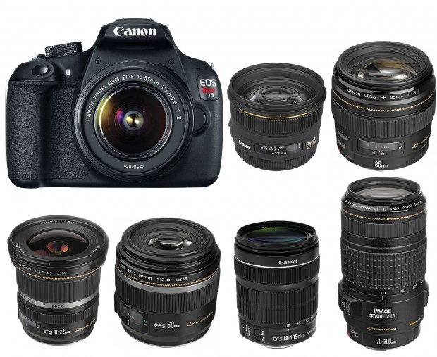 Canon-EOS-1200D-Rebel-T5-Recommended-lenses