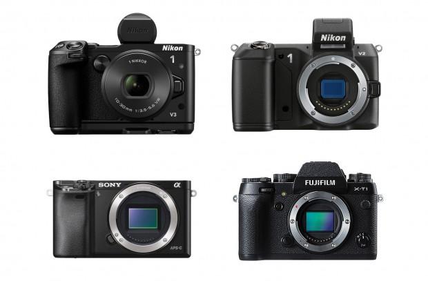 Nikon-1-v3-v2-Sony-A6000-Fujifilm-X-T1