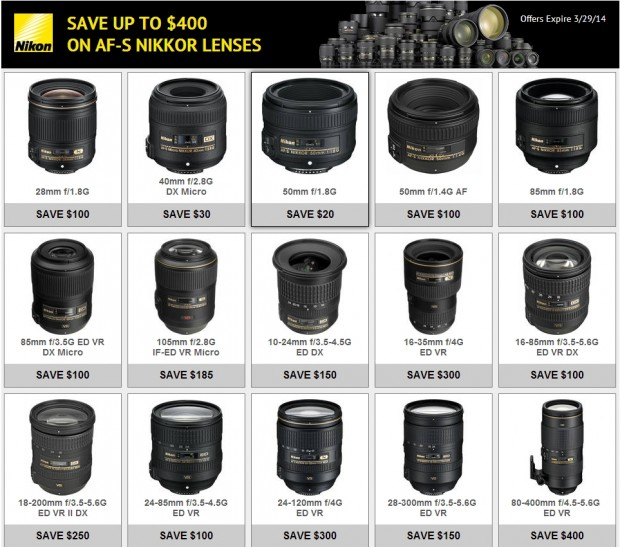 <del>Confirmed: Nikon Lens Only Rebates Expired Tonight, will not be Extended !</del>