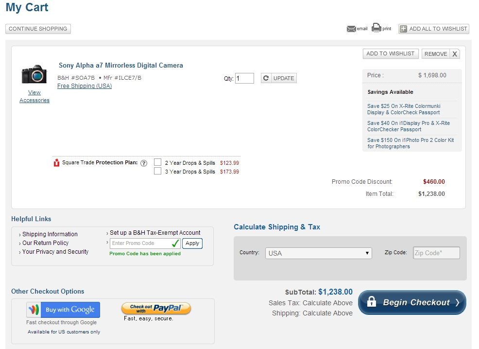 Updated) Hot Deal – Sony A7 for $1,238 ! Sony A7R for $1,838