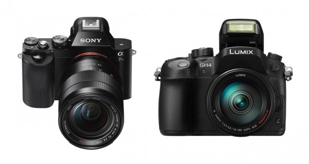 Sony A7S Vs. Panasonic GH4 Vs. A7 Vs. A7R Specs Comparison