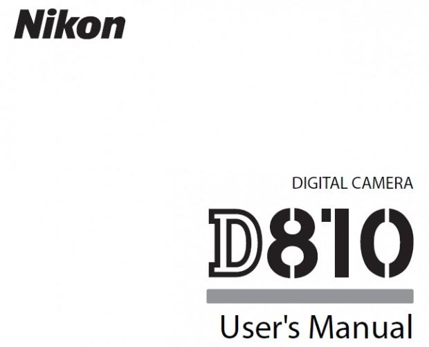 nikon d810 users manual