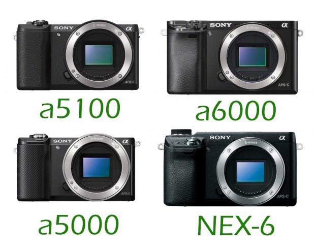 Sony-A5100-vs-a6000-vs-a5000-vs-nex-6