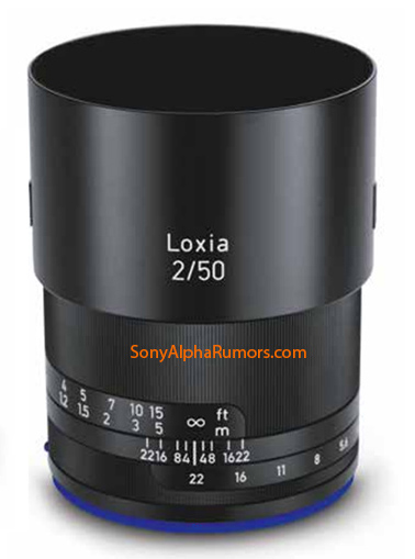 zeiss loxia 50mm f 2 planar e-mount lens