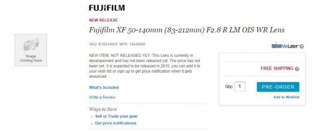 xf 50-140mm pre-order