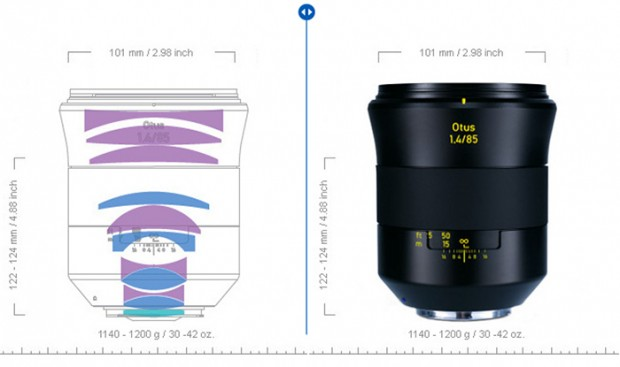 zeiss_otus_85mm f 1.4 design