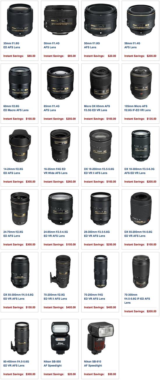 Nikon-instant-rebates-November