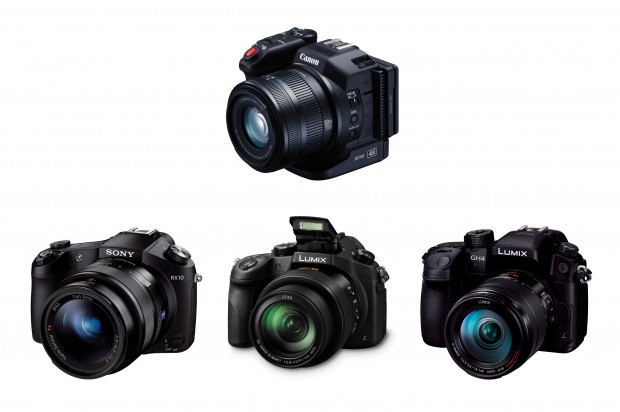 canon-xc10-vs-sony-rx10-vs-panasonic-fz1000-vs-gh4