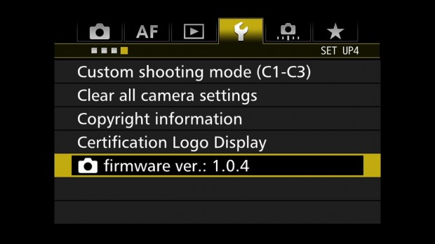 7d mark ii firmware v 1.0.4