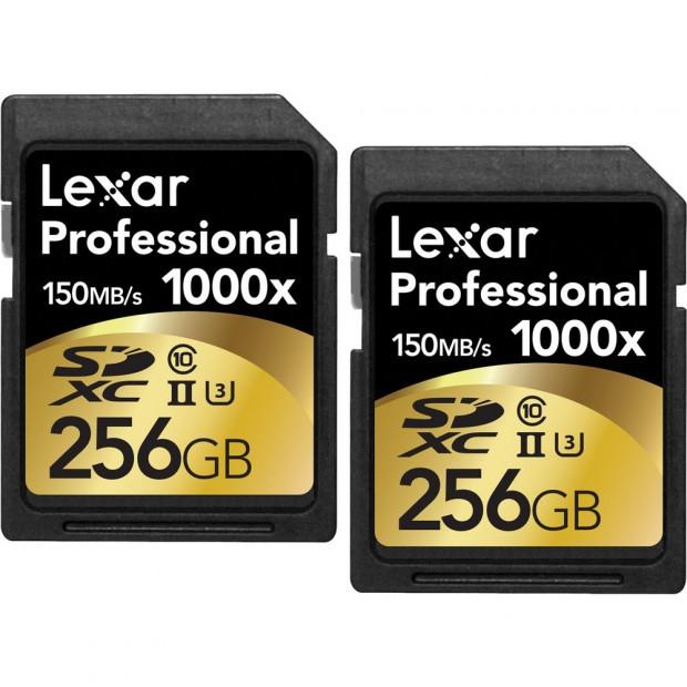 lexar 256gb 2 pack sdxc card