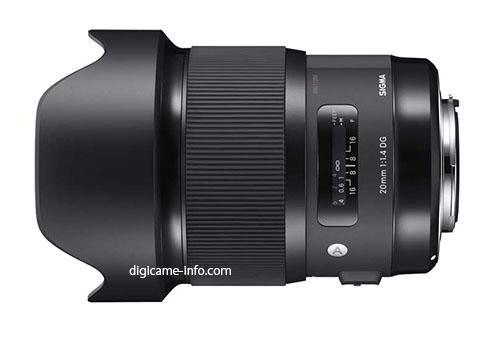 sigma_20mm f1.4 dg hsm art lens