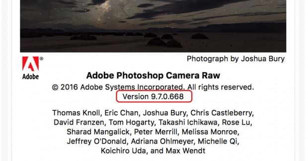 adobe raw 9.7